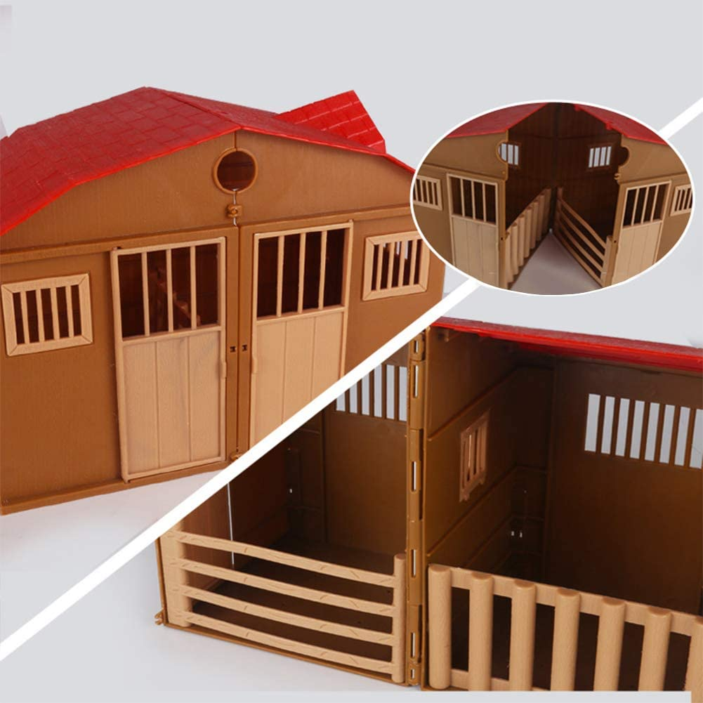 Simulation Farm Ranch House House Animal And Plant Diy Assembly Sand Table mg