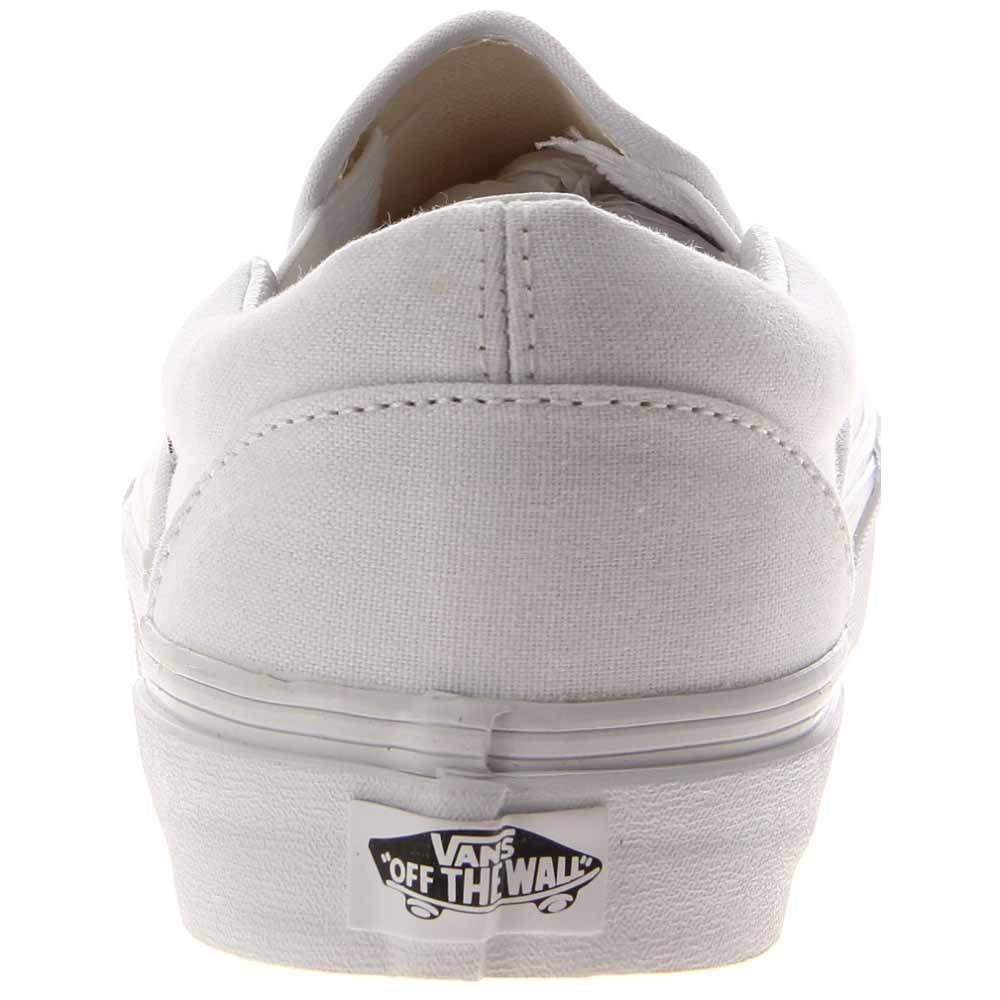 Vans Weiß, Unisex-Erwachsene Classic Slip-On Niedrig-Top, Weiß, Vans D(M) Weiß 16066d