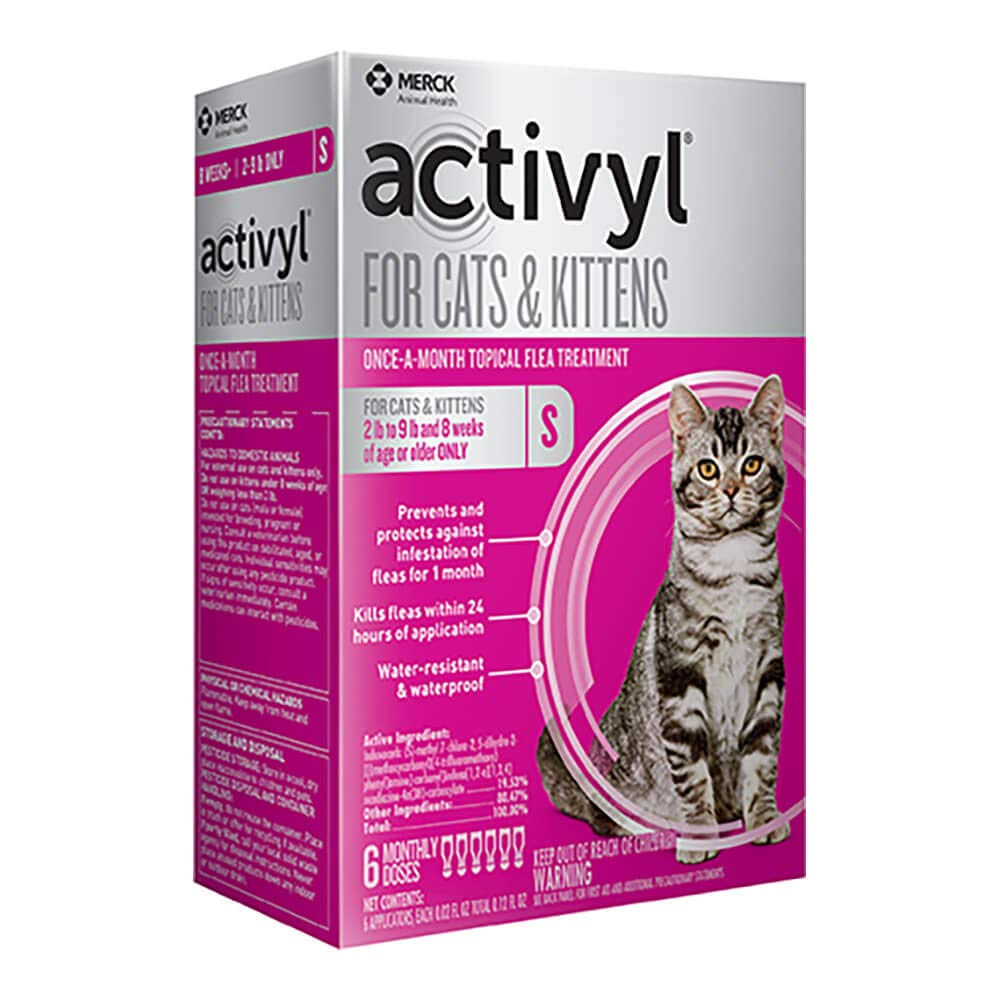 Activyl for Cats & Kittens 2-9 Lbs, 6-pack by Activyl