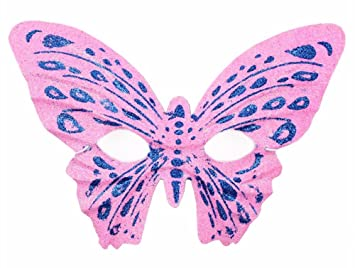 MaskKing Disfraz de Mascarada de Halloween para niños Adultos máscara de Mariposa de Oro en Polvo