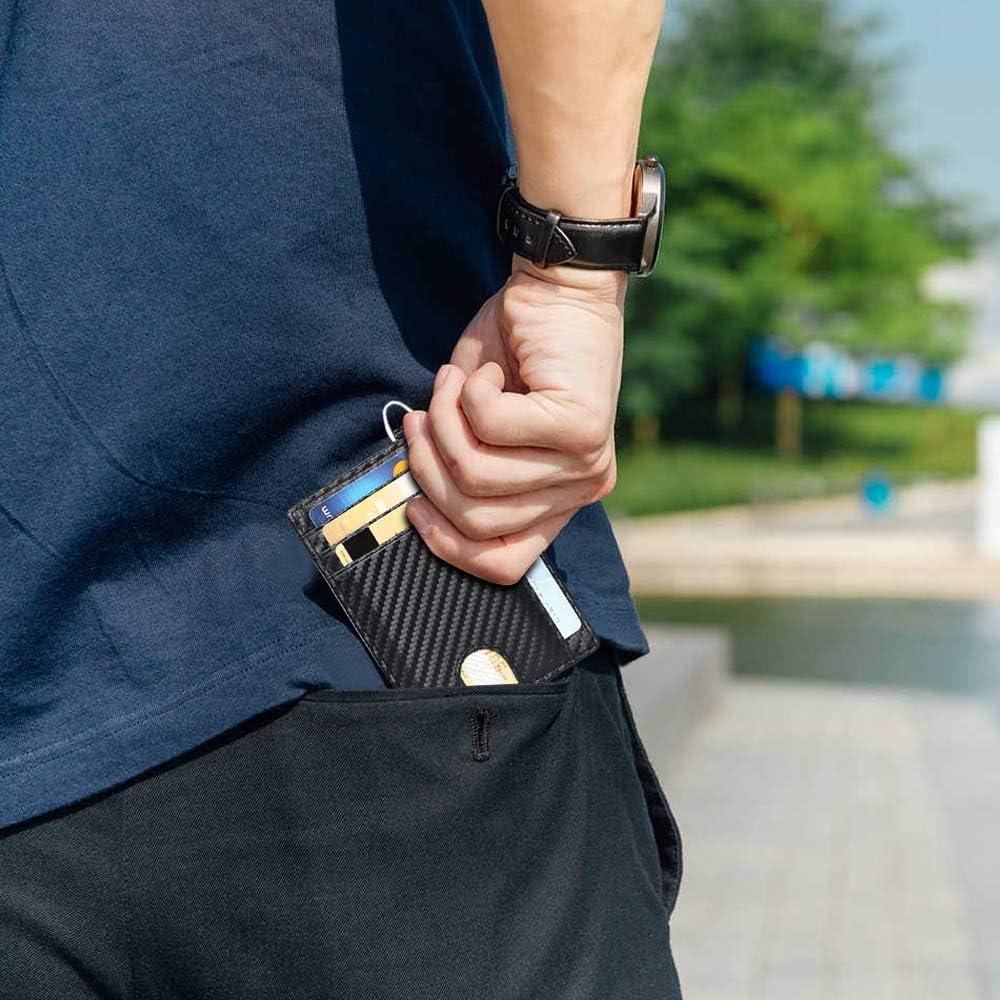 flintronic /® Tarjetas de Cr/édito Slim Moda RFID Bloqueo Monedero de Cuero Mini Billetera para Cartera ID,Tarjetero Cr/édito Licencia de Conducir Cartera Hombre