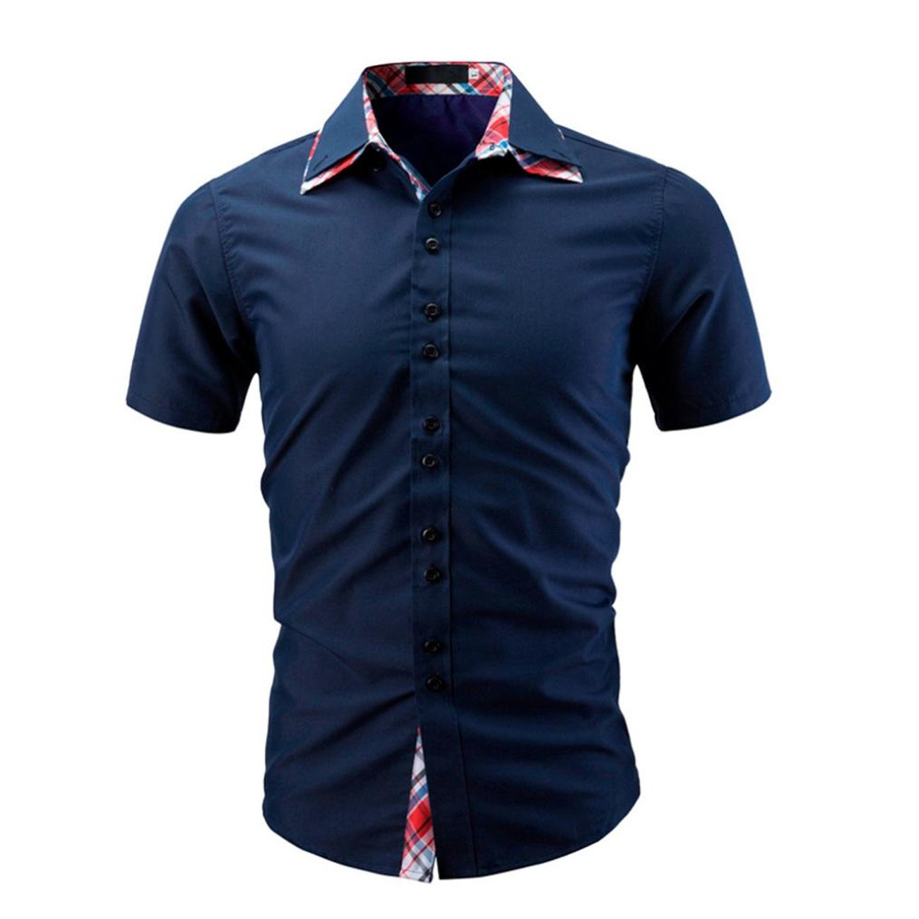 Chemises Homme Chemises BoutonnéEs Chemises Bureau Chemise Homme Chemise à Manches Courtes Chemise HCFKJ - MS
