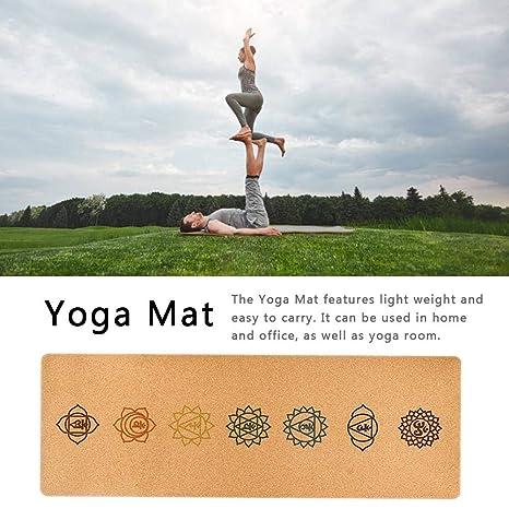 Manta de Yoga, 183 68 CM Estera de Yoga de Caucho Natural, 5 ...