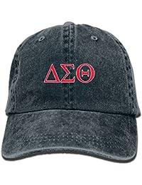Delta-Sigma-Theta Adjustable Vintage Washed Denim Baseball Cap Dad Hat