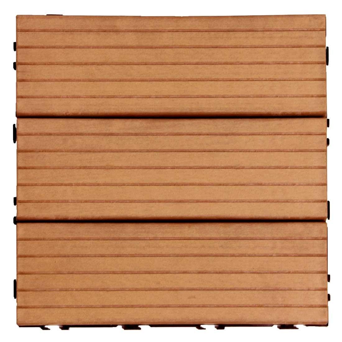 タンスのゲン ウッドパネル 樹脂 27枚セット 2.4平米用 ジョイント式 30×30cm 正方形 Bタイプ:レッドブラウン AM000086 10 B072XBKRQY 29500 27枚セット|レッドブラウン(Bタイプ) レッドブラウン(Bタイプ) 27枚セット