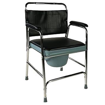 Silla WC | Modelo Velero | Acero | Altura 81,5 cm | Peso Máximo 75 Kg ...: Amazon.es: Salud y cuidado personal