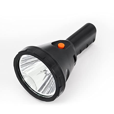 Ultra Bright Rechargeable LED Flashlight, Apollo High-Lumen 10W Searchlight, 6000mAh Ultra-