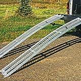 Yutrax 89-inch Aluminum Truck, UTV/ATV Loading Arch Ramps - Pair, 1500lb Capacity