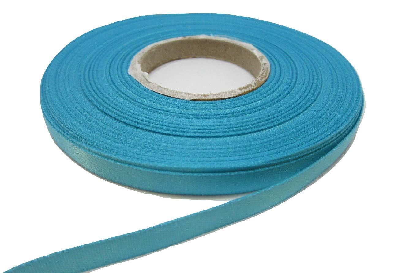 Beautiful Ribbon 1 rotolo di nastro del raso di 7 millimetri x 25 metri Acquamarina turchese chiaro doppia faccia 7mm 7 mm