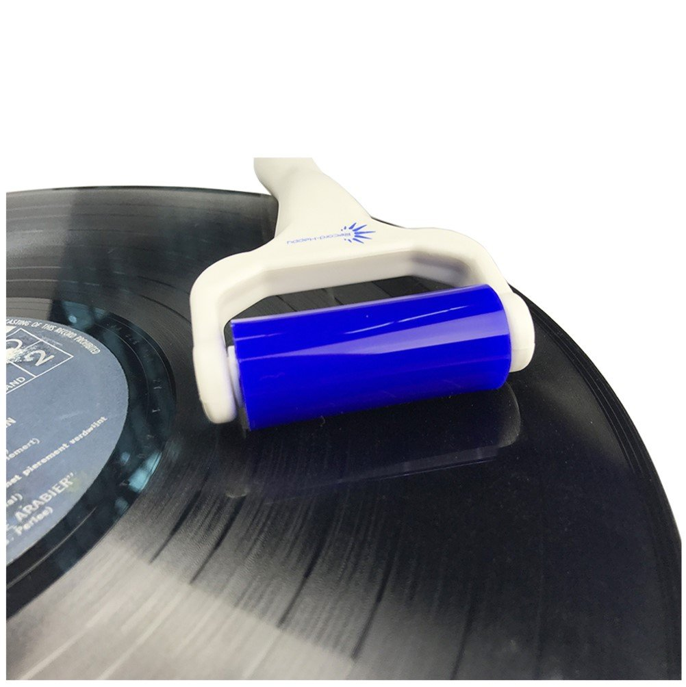 Vinyl Record Deep Cleaning Roller – Reusable Antistatic LP Album Cleaner and Microfiber Cloth by Record-Happy for a Complete and Throughout Maintenance of your Precious Vintage Collection