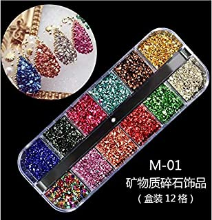 1 Caja decoración de uñas postizas, naturales o de gel, resistentes a los rayos UV, para colocar sobre el…