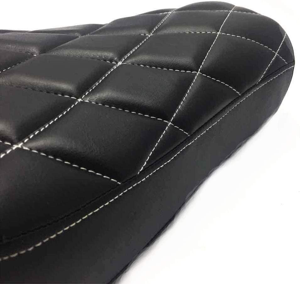 Motorcycle Black Diamond Front Driver Solo Seat Pad Cushion For Harley Sportster XL1200 883 72 48 2010-2015