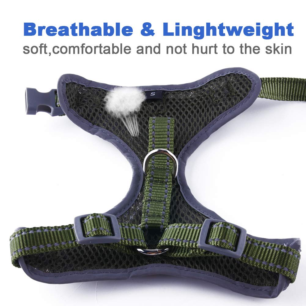 ThinkPet Reflective Breathable Soft Air Mesh No Pull Puppy Dog Vest Harness