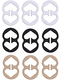 ALAZCO 10pc Bra Strap Clips Conceal Straps Create Cleavage Add Full Cup Size