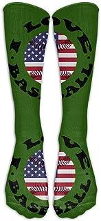 UYTGYUHIOJ I Love American Baseball Casual Unisex Sock Knee Long High Socks Sport Athletic Crew Socks One Size