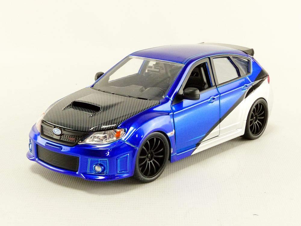 Jada Toys Fast & Furious 7- Brian's 2012 Subaru Impreza WRX STi GH diecast Collectible Toy Vehicle car, 1:24 Scale, Blue 99514