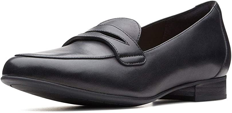 black smart loafers