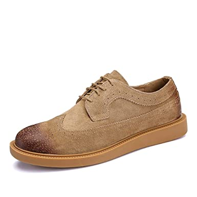 d85a3410550cc Amazon.com: Gobling Men's Classic Suede Brogue Shoes, Wingtip ...