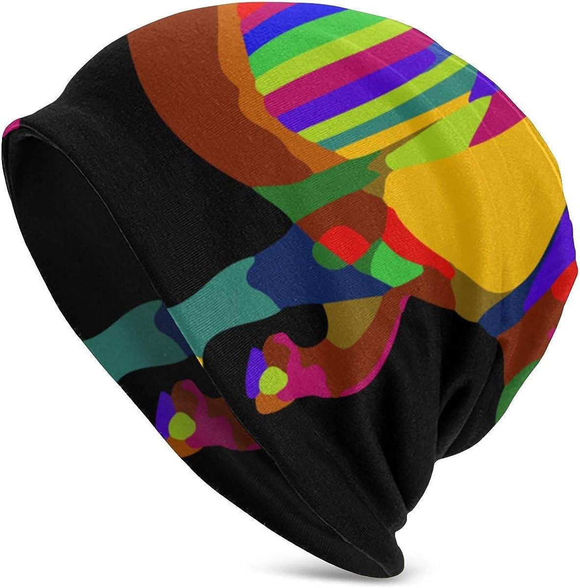 Wolf Beanie Hat Winter Solid Warm Knit Unisex Ski Skull Cap