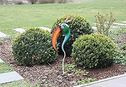 Spina giardino divertente testa di uccello uccello statua da