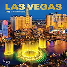 Las Vegas 2018 7 x 7 Inch Monthly Mini Wall Calendar with Foil Stamped Cover, USA United States of America Nevada Rocky Mountain City (Multilingual Edition)
