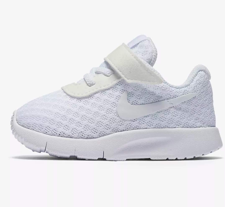 NIKE Toddler Tanjun (TDV) Running Shoes (8 Toddler M White/White-White)