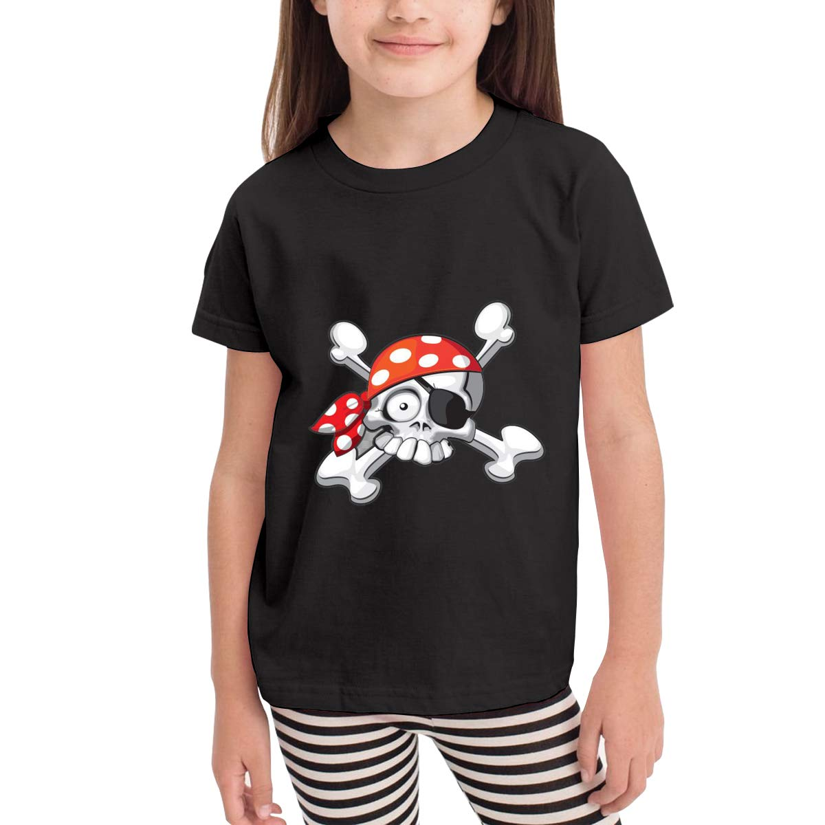 Cartoon Skull Crossbone with A Red Cap 100/% Cotton Toddler Baby Boys Girls Kids Short Sleeve T Shirt Top Tee Clothes 2-6 T