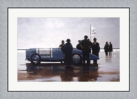 Amazon.com: Pendine Beach by Jack Vettriano Framed Art Print Wall ...