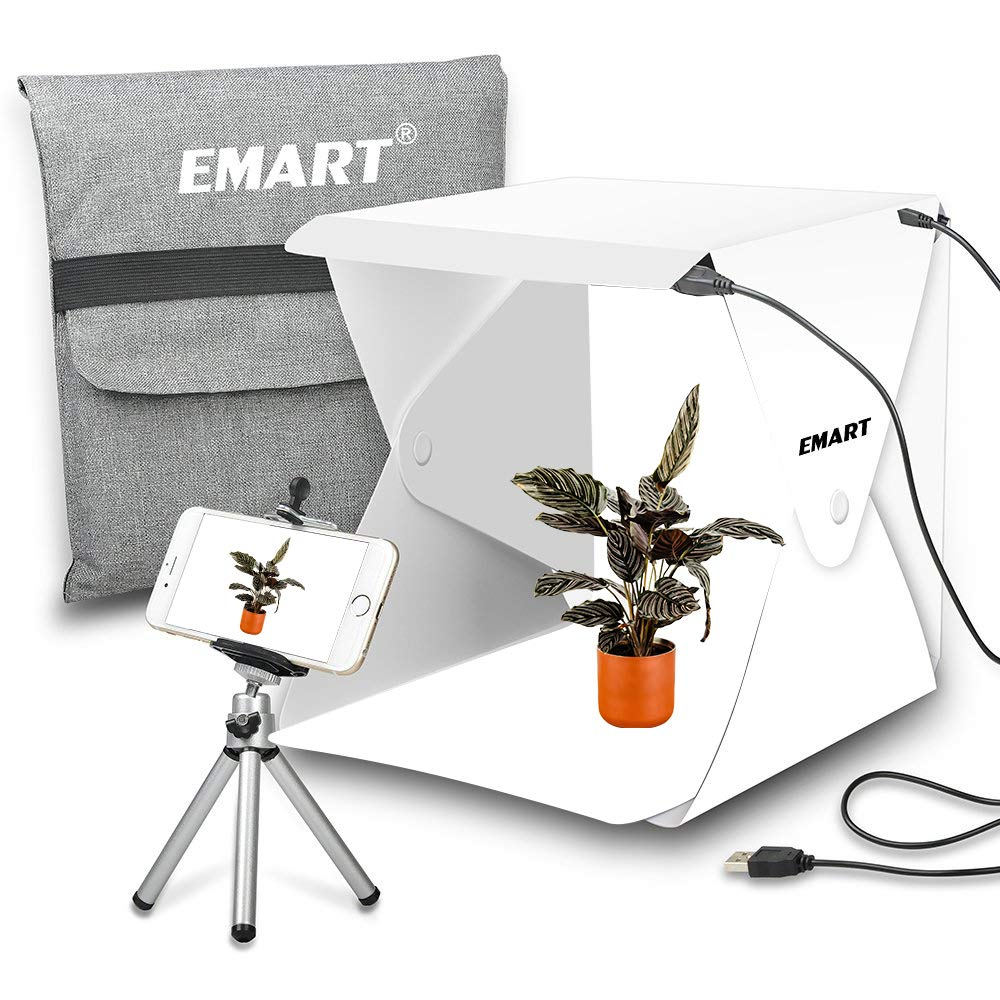 Emart Portable Studio Photo Box, 40 LED Foldable Mini Table Top Shooting Tent Kit for Product Photography by EMART