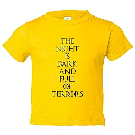 Camiseta niño Juego de Tronos The Night Is Dark And Full Of Terrors -  Amarillo d522bf107ebbf