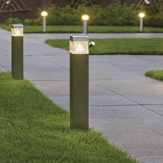FactorLED Baliza de suelo LED 8W, Lámpara Exterior IP44, 60 cm, Poste cuadrado, Iluminación para Jardín, Porche, Camino, Piscina, Luz Natural 4000K [Clase de eficiencia energética A+]: Amazon.es: Iluminación