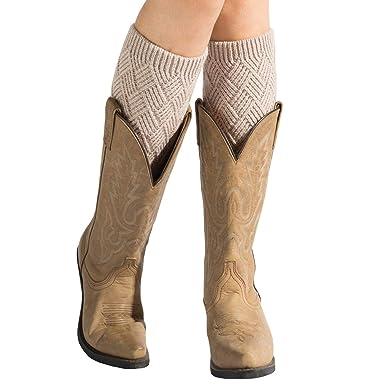 Precio pagable 2019 mejor Mitad de precio Vellette calentador de pierna Mujer calcetines de punto elástico cubierta  de boot Calentadores de pierna