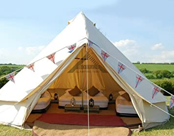 BOTEEN Bell Tent Outdoor Hotel Indian Luxury 8-12 Person Tent Stand Canvas Mongolian Yurts & Amazon.com : BOTEEN Bell Tent Outdoor Hotel Indian Luxury 8-12 ...