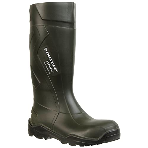 DunlopC762933 S5 PUROFORT+ - botas de goma sin forro con caña alta Unisex adulto, Grün