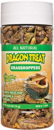 Healthy Herp Dragon Treat Grasshoppers 0.56-Ounce (15.88 Grams) Jar