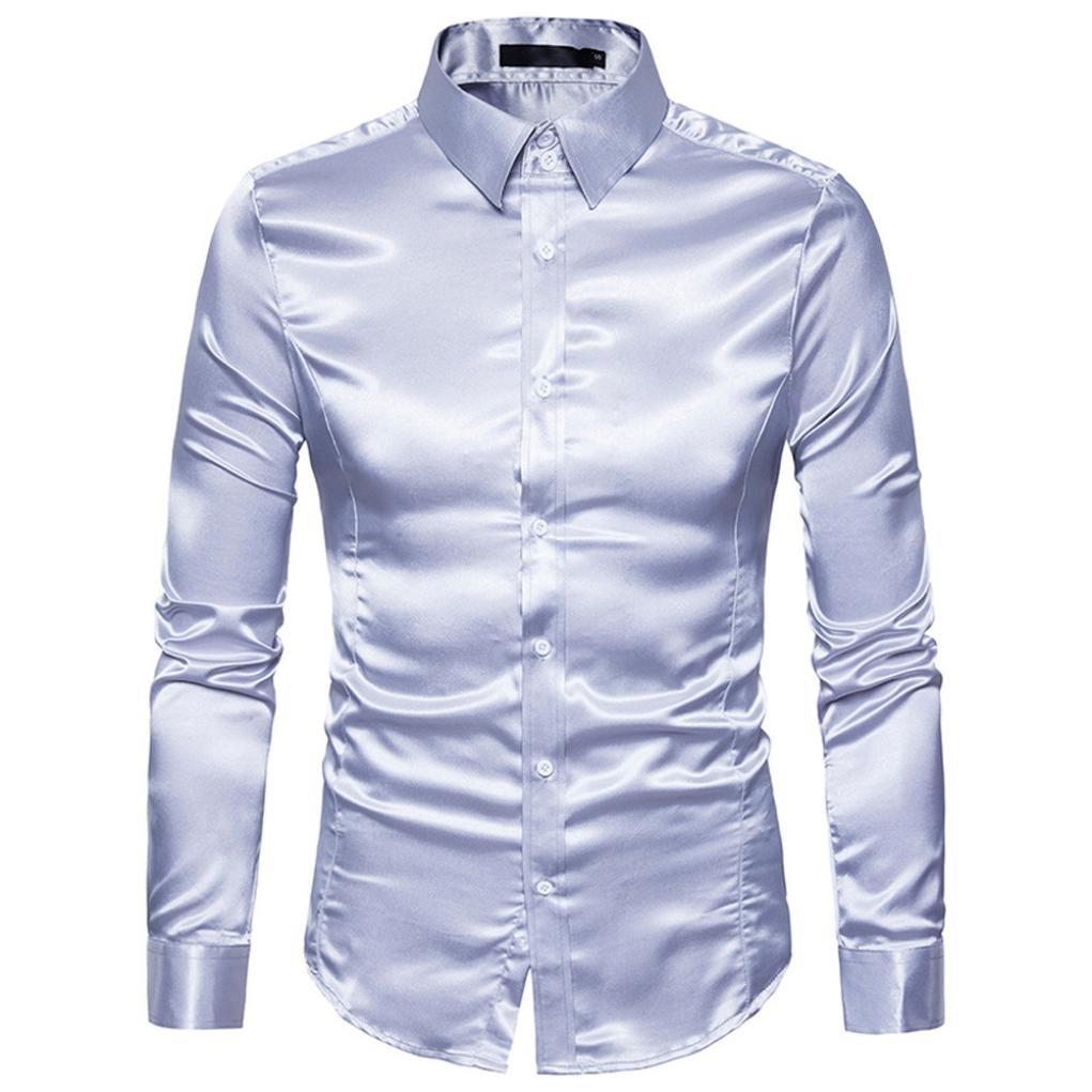 J - NEGOZIO Abbigliamento Uomo, T Shirt Uomo Maniche Lunghe Camicia Uomo, Camicetta a Maniche Lunghe Camicia a Maniche Lunghe Casual da Uomo di personalità della Moda
