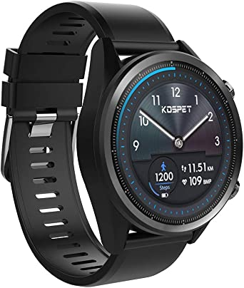 Kospet Hope 4G Smart Watch,[2019 Newest] 8.0 MP Camera,3/32 GB Ram/ROM, IP67 Waterproof,Bluetooth Wristband Scratch Resistant ZRO2 Ceramic ...