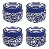 Capri Blue Signature Printed Travel Tin Candle(4 Pack) (Aloha Orchid)