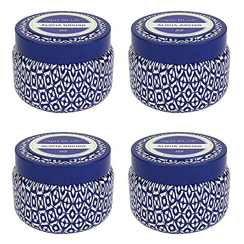 Capri Blue Signature Printed Travel Tin Candle(4 Pack) (Aloha Orchid) by Capri Blue (Image #1)