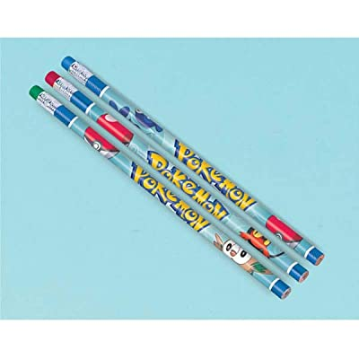 12 Count Pokemon Pencil Favors, Multicolor: Kitchen & Dining