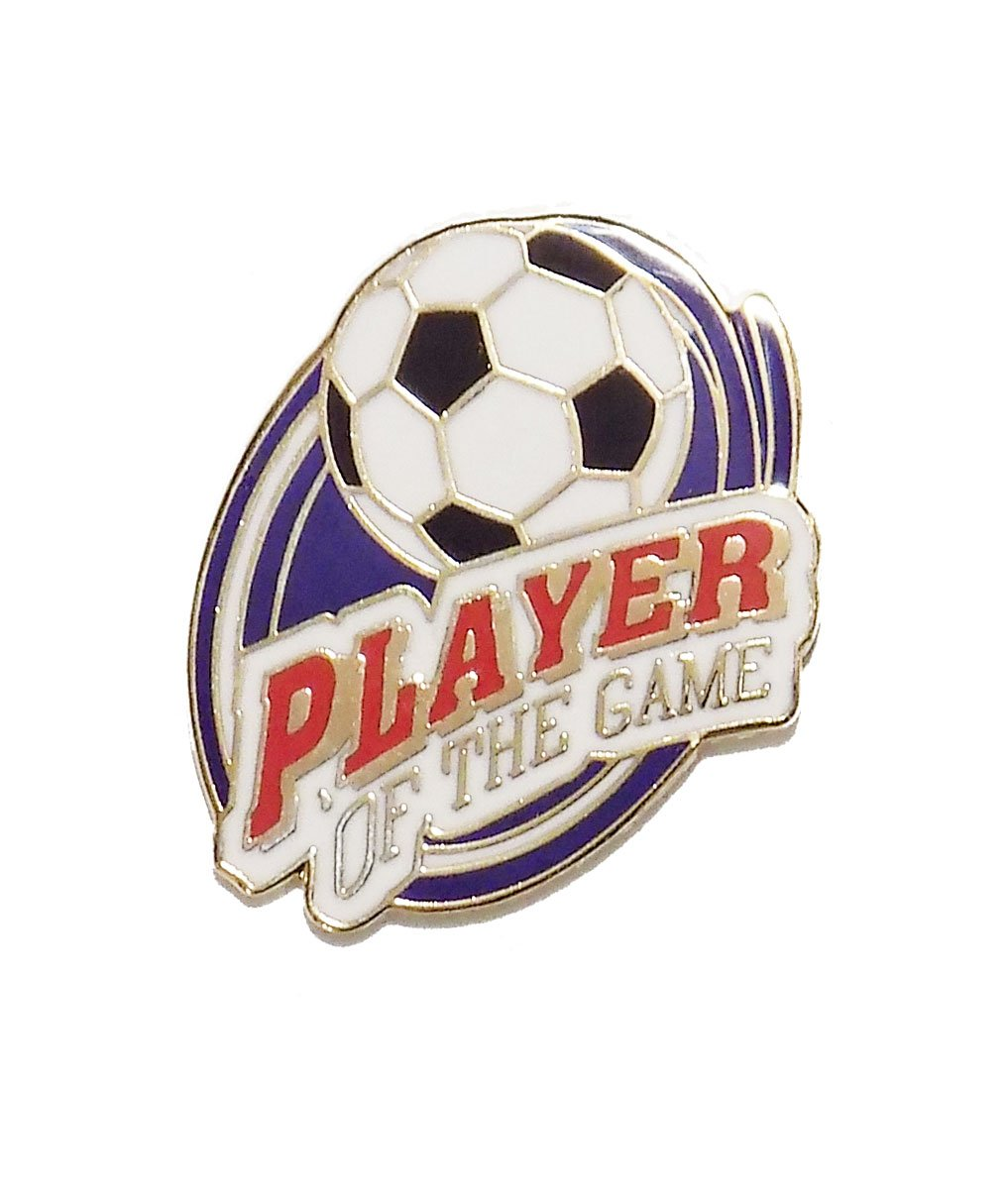 # 30 Player of the Game Soccer Pin (1 inch actual size) Code Four Athletics PIN-30-PlayGame