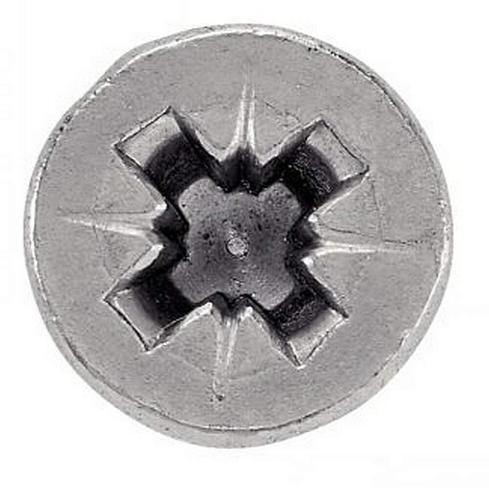 100 unidades, cabeza avellanada con ranura en cruz, 3,5 x 25 mm, acero inoxidable A2 Tornillo para aglomerado