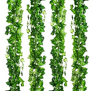 CEWOR Artificial Ivy Fake Greenery Vine Leaves for Home Wedding Garden Swing Frame Decoration 7
