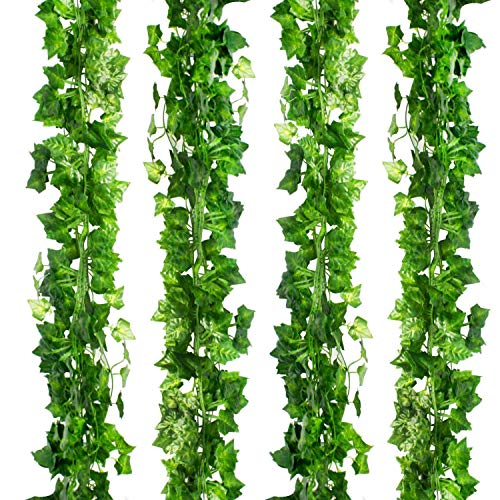 (CEWOR 36pcs (236 Feet) Artificial Ivy Fake Greenery Vine Leaves for Home Wedding Garden Swing Frame Decoration)