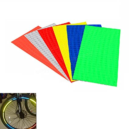 Freelance Shop - Pegatinas Reflectantes Luminosas para Llantas de Bicicleta