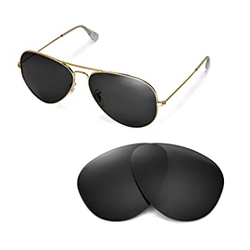 bdf21b637e Walleva Replacement Lenses for Ray-Ban Aviator Large Metal RB3025 62mm  Sunglasses - Multiple Options