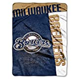 "MLB Milwaukee Brewers Strike Plush Raschel Throw, 60"" x 80"""