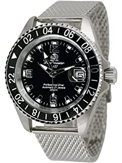 Tauchmeister Automatic Diver Watch 24hour Hand T0082MIL