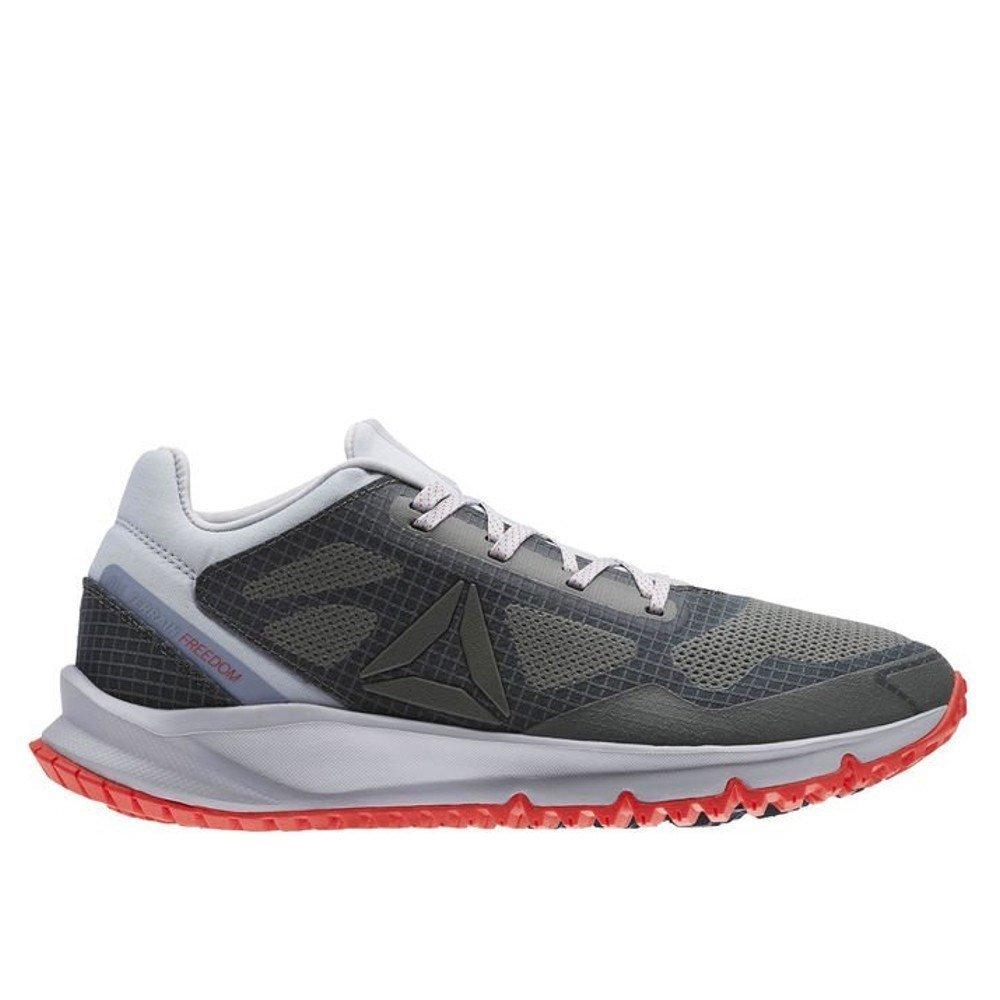 Reebok All Terrain Freedom Ex, Zapatillas de Running para Hombre 43 EU|Gris (Cloud Grey / Irnstne / Dayglow Red / Met Gry / N)