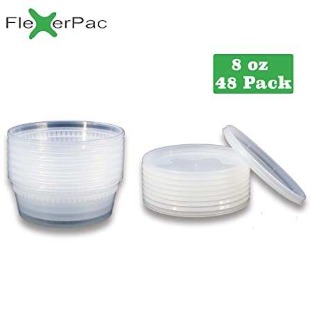 Flexerpac Contenedores de almacenamiento de alimentos con tapas ...